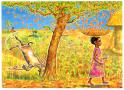 Handa falling fruit Eileen Browne -